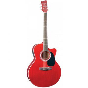 Jay Turser JTA444-CET Series Acoustic Guitar Trans Red