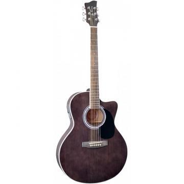 Jay Turser JTA444-CET Series Acoustic Guitar Trans Black