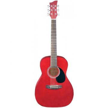 Jay Turser JJ-43 Series 3/4 Size Acoustic Guitar Trans Red