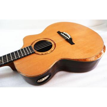 In Stock - All Solid Master Grade Double Top Acoustic Guitar Model Artist B Free Fiberglass Case