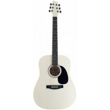Great New Stagg SW203WH Acoustic Dreadnought Guitar With White Finish
