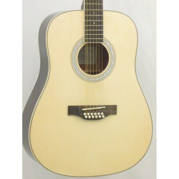 EKO LAREDO 12 String Dreadnought Acoustic Guitar in Natural Finish