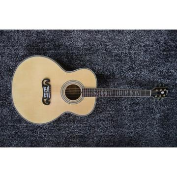 Custom SJ200 Project Real Wood Spruce Top Acoustic Electric Guitar Fishman EQ Inlayed Name