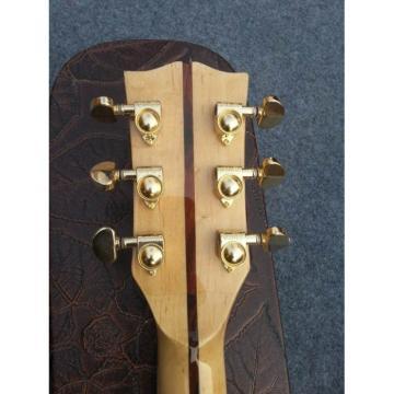 Custom Shop Tiger Maple Back Dove Hummingbird Natural Acoustic Guitar
