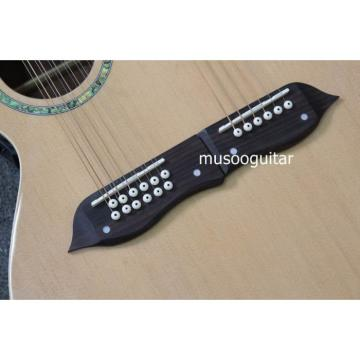 Custom Shop Natural Double Neck Acoustic Guitar