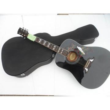 Custom Shop Dove Hummingbird Black Acoustic Guitar