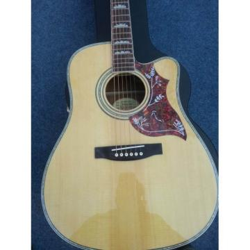 Custom Shop Dove Cutaway Hummingbird Natural Acoustic Guitar