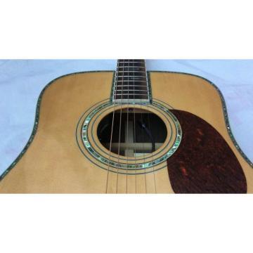 Custom Shop D45 Ellipse Blend Fishman EQ Natural Acoustic Guitar Sitka Solid Spruce Top