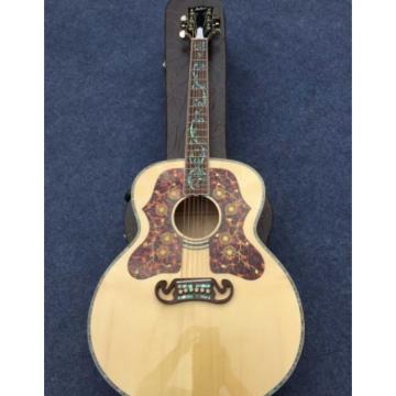 Custom Shop 6 String J200 Abalone Tree of Life Inlay Solid Spruce Acoustic Guitar