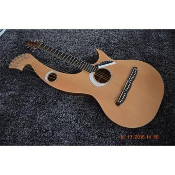 Custom Built 6 6 8 String Acoustic Electric Double Neck Harp Guitar