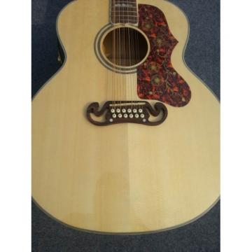 Custom J200 12 Strings Natural Acoustic Guitar