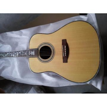 Custom 41 Inch Sitka Solid Spruce Top With Ox Bone Nut & Saddler Acoustic Guitar
