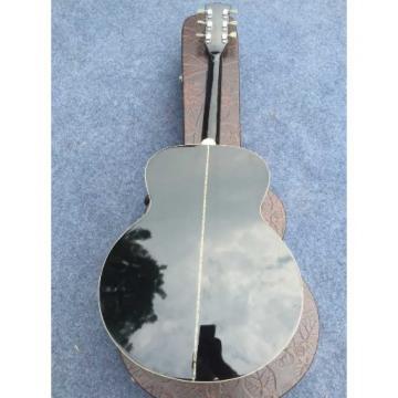 Custom J180 6 Strings Black Star Inlays Acoustic Guitar