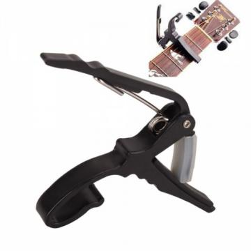 Black Quick Change Guitar Capo for Acoustic Electric Guitar