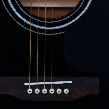 "Beginner 41"" Folk Acoustic Wooden Guitar Black"