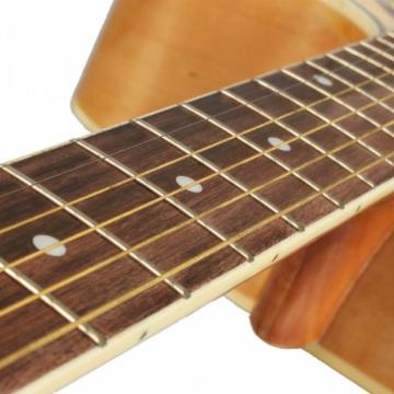 "Beginner 41"" Cutaway Folk Acoustic Wooden Guitar Natural Color"