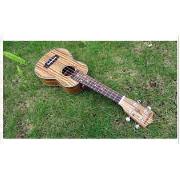 "23"" Concert Ukulele Guitar Mini Acoustic Handcraft Zebra Wood Hawaii 4 Strings"