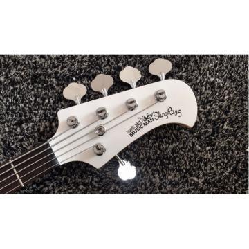 Custom Shop White Music Man Sting Ray 5 Bass 9 V Battery Passive Pickups