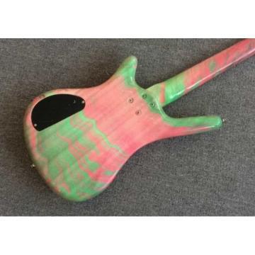 Custom Shop Warwick 4 Strings Marble Pink Green Bass