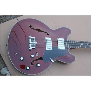 Custom Shop Walnut Midtown Standard 4 String Semi Hollow Bass