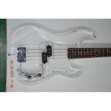 Custom Shop Transparent Acrylic 4 String P Bass Canadian Maple Neck