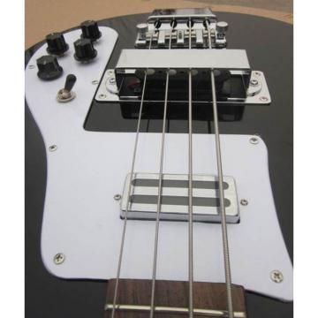 Custom Shop Rickenbacker 4001 Jetglo Black Bass No Fretboard Bindings