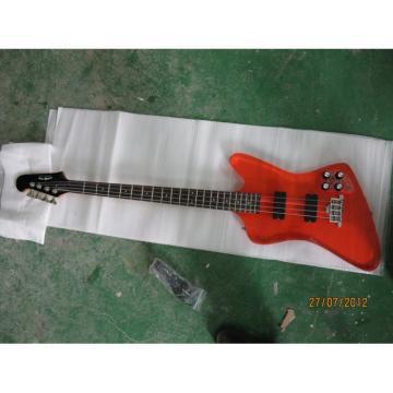 Custom Shop Orange Acrylic 4 String Bass