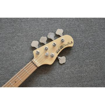 Custom Shop Orange 5 Strings 9V Battery Music Man S.U.B. Ray5 Bass