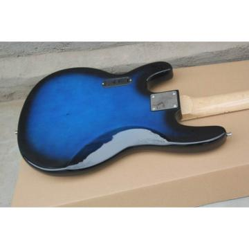 Custom Shop MusicMan Blue 4 Strings Bass