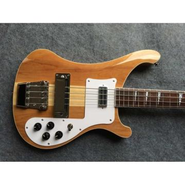Custom Made Mahogany Wood Body Natural 4003 Bass