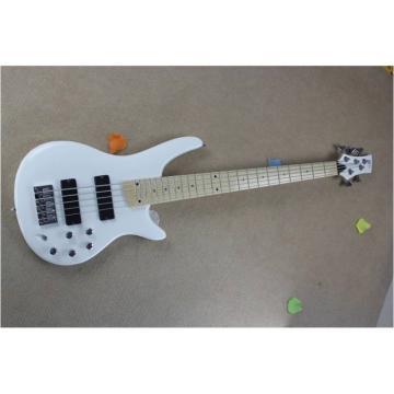 Custom Shop Ibanez GSRM20 Series White 5 String Bass
