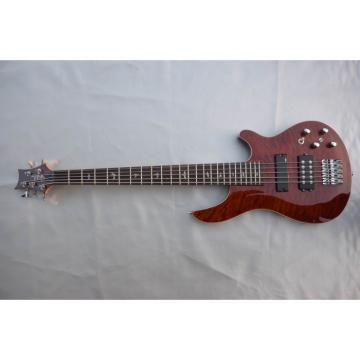 Custom Shop EMG PRS SE 5 String Bass Brown Quilted Maple Top