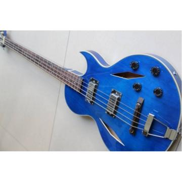 Custom Shop Cream Blue Midtown 4 String Fhole Semi Hollow Bass