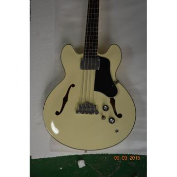 Custom Shop Cream Arctic White Midtown 4 String Fhole Semi Hollow Bass