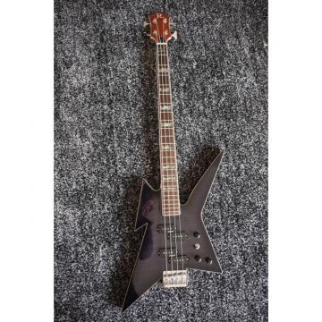Custom Shop Black Crying Star 4 String Bass