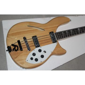 Custom Shop 4005 Rickenbacker Left Handed Naturalglo Semi Hollow Bass
