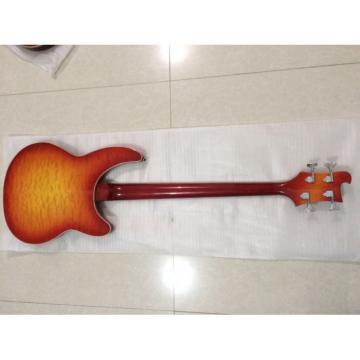Custom Shop 4005 Rickenbacker Left Handed Fireglo 22 Frets Semi Hollow Bass