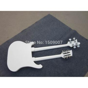 Custom Shop 4003 Double Neck White 4 String Bass 12 String Guitar