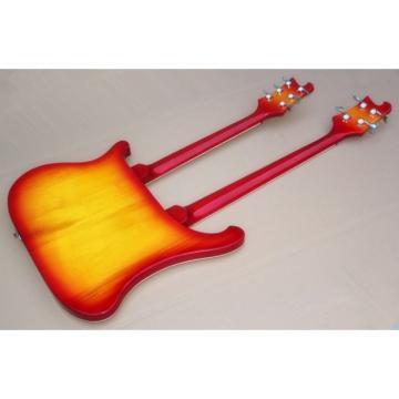 Custom Shop 4003 Double Neck Cherry Burst 4 String Bass 6 String Guitar