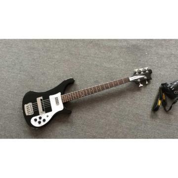 Custom Shop 4003 Jetglo Black No Bindings Dot Inlay 5 String Bass