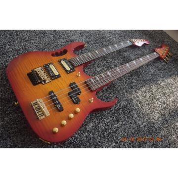 Custom Shop 4 String Bass 6 String Guitar Double Neck Cherry Sunburst