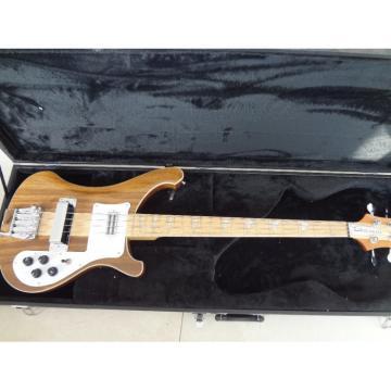 Custom Rickenbacker Walnut Natural 4003 Neck Thru Body 4 String Bass