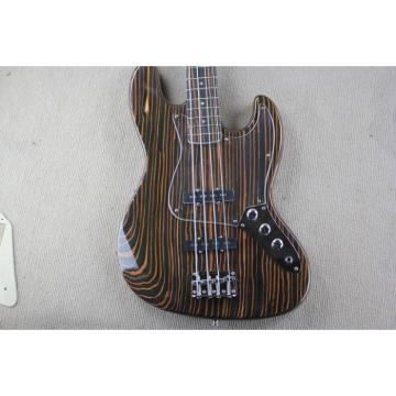 Custom Shop 4 String Orford Cedar Jazz Bass Zebra Body and Neck