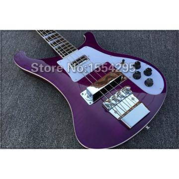 Custom Purple Flame Maple Top 4003 Neck Thru Body Construction Bass