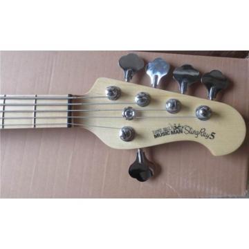 Custom Purple Burst Music Man Sting Ray 5 Bass Quilted Maple