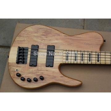 Custom Shop 5 String Bass Ash Natural Color
