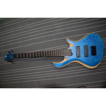 Custom Mayones Built 5 String Sky Blue Bass