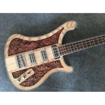 Custom Lemmy Kilmister  4003 Natural Ash Wood Body Special Carvings Bass