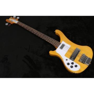 Custom Left Handed Natural 4003 Neck Thru Body Construction Bass