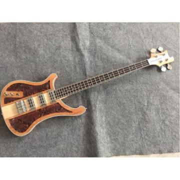 Custom Left Handed Lemmy Kilmister  4003 Natural Special Carvings Alder Wood Bass